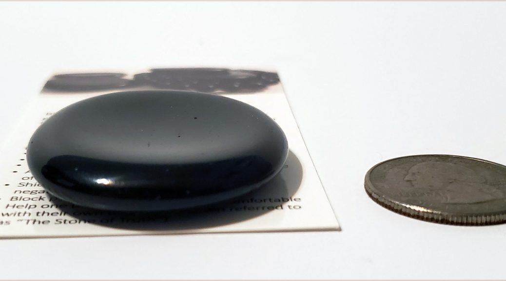 Black Obsidian Worry Stone for Chakra Healing, Protection, ADHD, by Chakra Rox