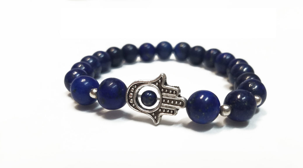 Lapiz Lazuli bracelet for balancing Third Eye and Throat CHakras, offering clarity, inspiration, intuition